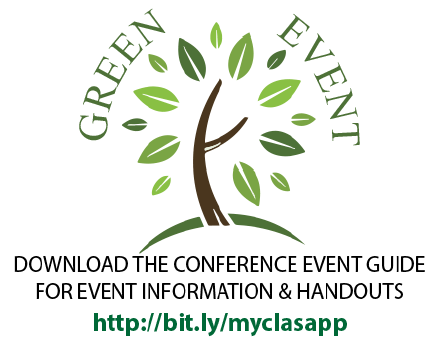 This is a green event.  All resources will be electronic.  Download our app at bit.ly/myclasapp