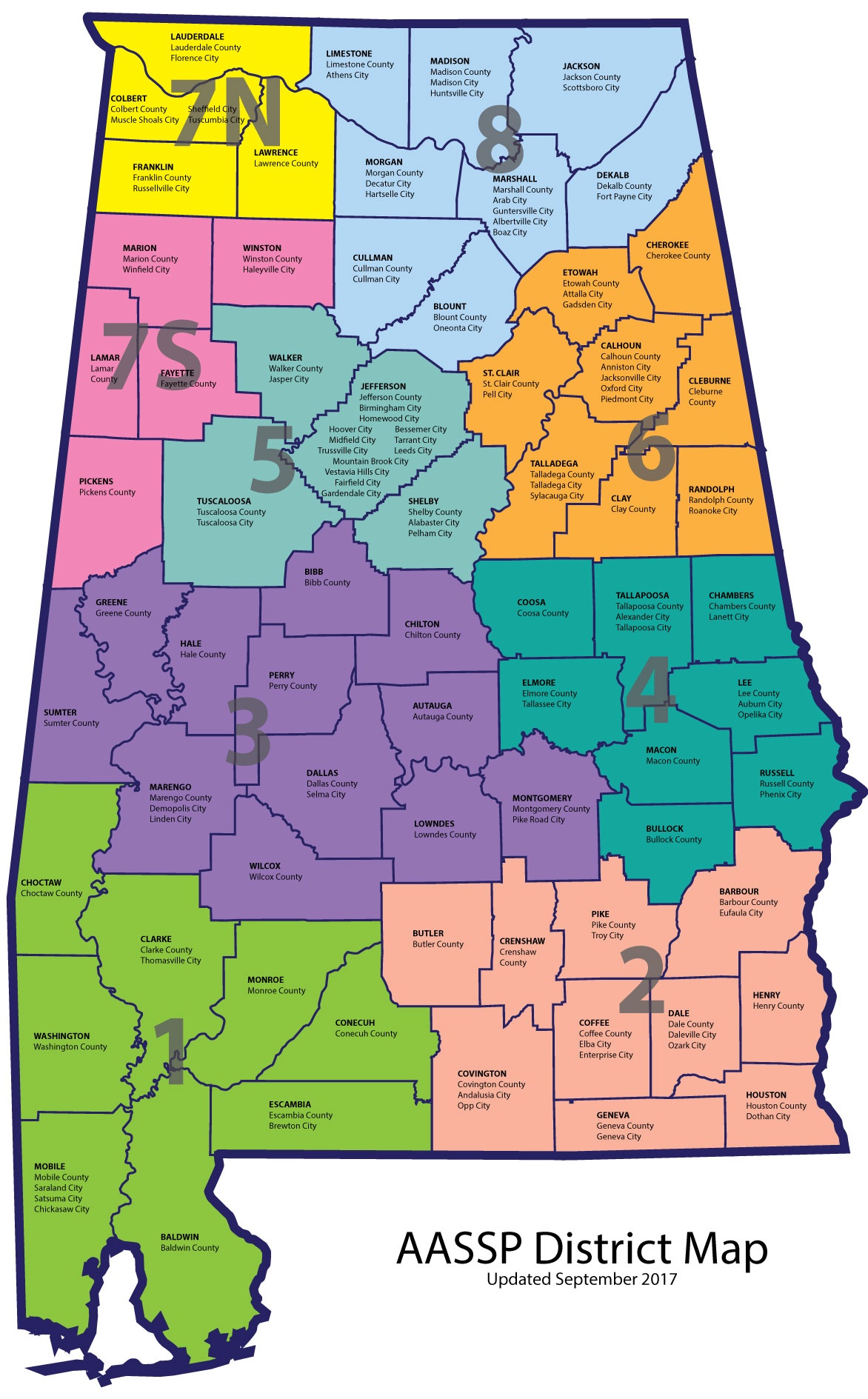 AASSP/AAMSP District Map