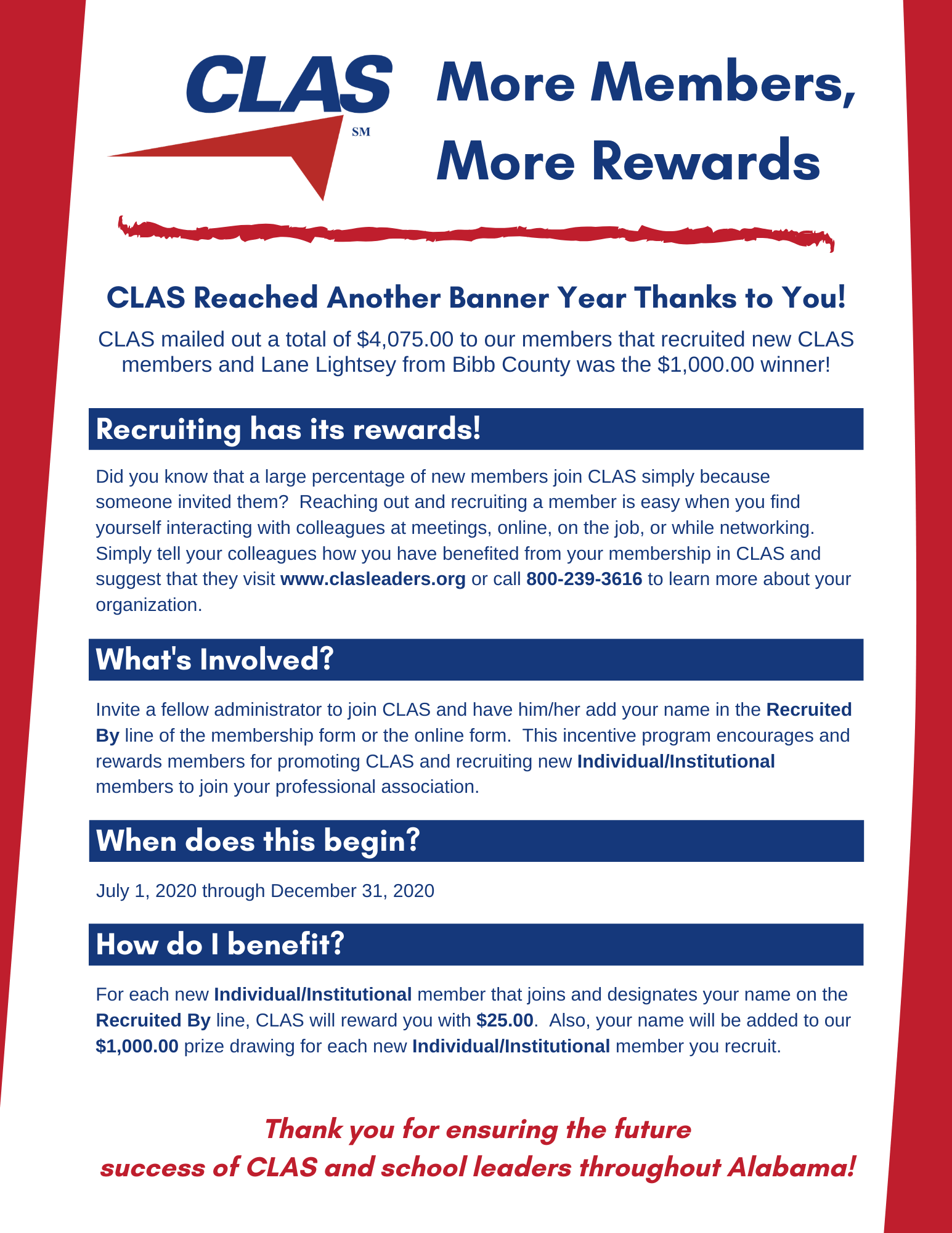 More Members More Rewards Flyer